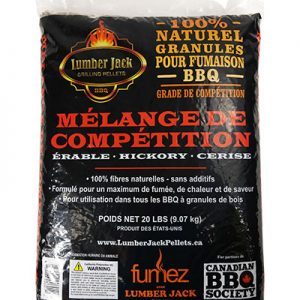 Competition Blend Lumber Jack BBQ Pellets 20lb bag French