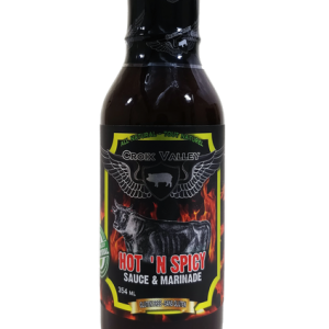Front of Hot 'N Spicy Sauce & Marinade