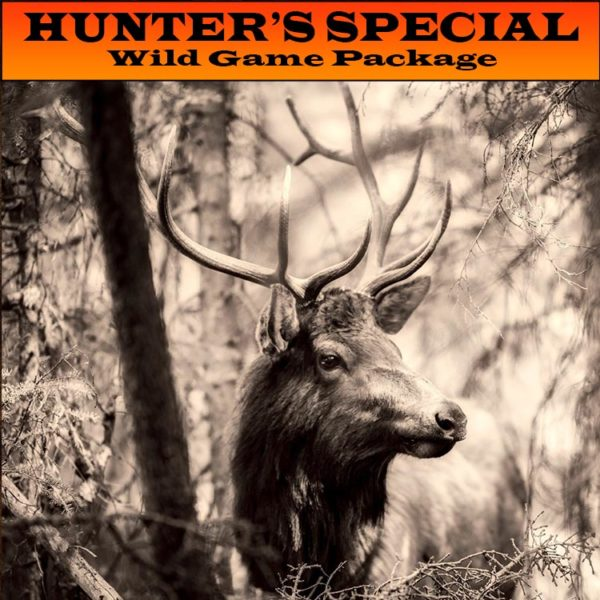 Wild Game Hunter's Special BBQ Pellets package