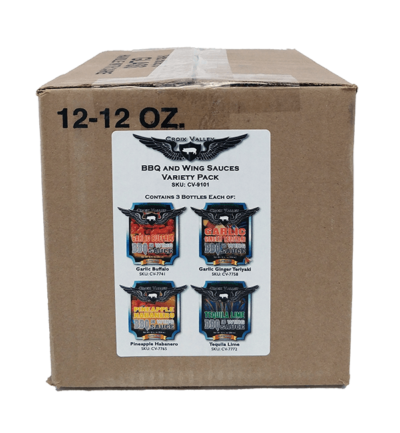 Croix Valley Foods BBQ and Wing Sauce Variety Pack