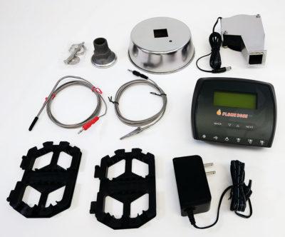Flame Boss 500 Universal Smoker Controller kit contents