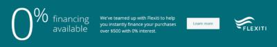 Flexiti Financing bottom bar learn more