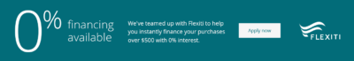Flexiti Financing bottom bar apply now